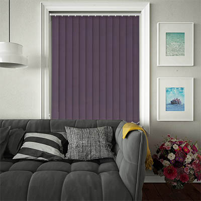 Replacement Vertical Blind Slats Luxe Mulberry Main