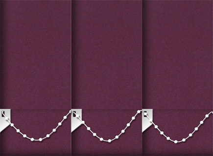 Made to Measure Vertical Blinds Luxe Plum 3 Slats