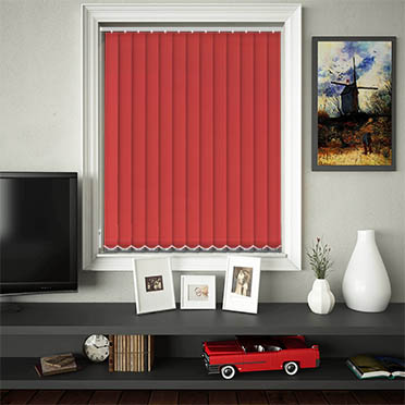 Replacement Vertical Blind Slats Luxe Scarlet Main