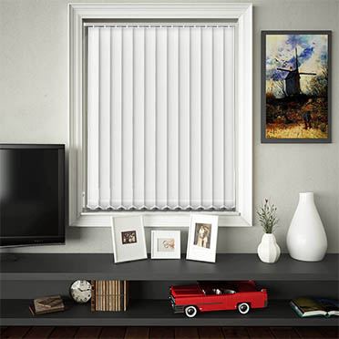 Replacement Vertical Blind Slats Luxe White Main