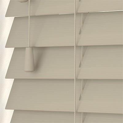Mantis Wood Grain Faux Wood Wooden Venetian Blind Close Up