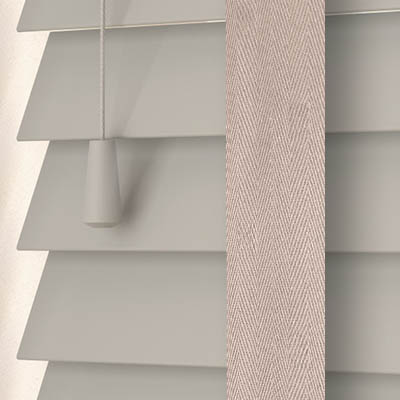 Marlin with Solis Tape Wooden Venetian Blind Close Up