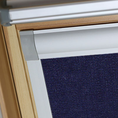 Blackout Blinds For Optilight Roof Skylight Windows Midnight Blue Frame Two