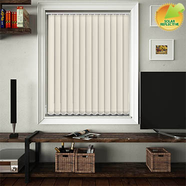 Made to Measure Solar Reflective Replacement Vertical Blind Slats Mirage Solar Cream Main