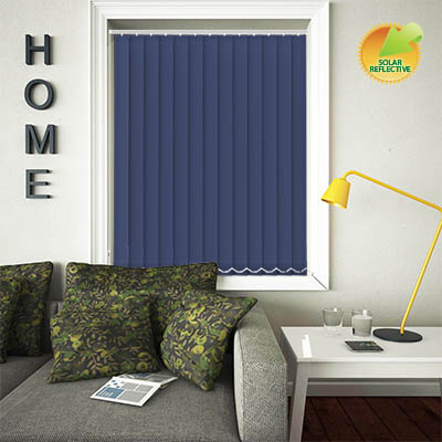 Made to Measure Solar Reflective Replacement Vertical Blind Slats Mirage Solar Navy Main