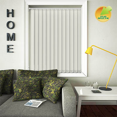 Made to Measure Solar Reflective Replacement Vertical Blind Slats Mirage Solar Vanilla Main