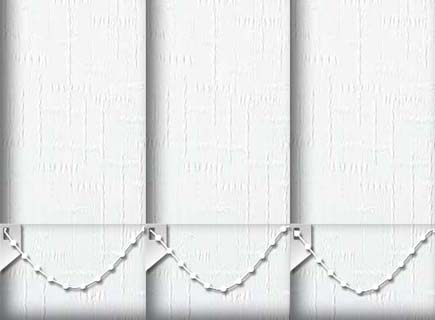 Made to Measure Vertical Blinds Mittle Snow 3 Slats