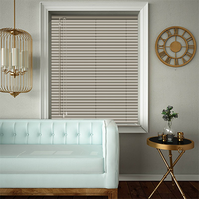 Venetian Blinds Muted Gold Closed