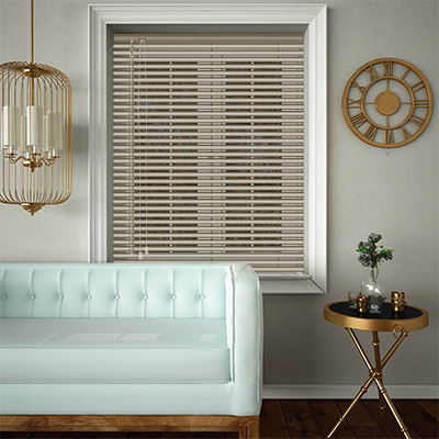 Venetian Blinds Muted Gold Opened