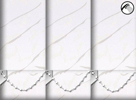 Made to Measure Waterproof Vertical Blinds Negev White 3 Slats