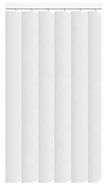 Made to Measure Rigid PVC Waterproof Replacement Vertical Blind Slats Nico White 3Slats Zoom