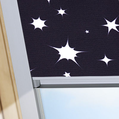 Blackout Blinds For Dakstra Roof Skylight Windows Night Sky Black Frame One