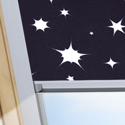 Blackout Blinds For Rooflite Roof Skylight Windows Night Sky Black Frame One