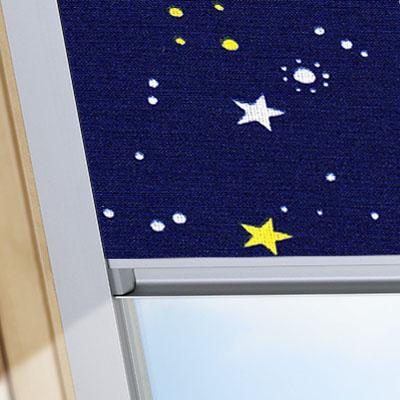 Blackout Blinds For Rooflite Roof Skylight Windows Night Sky Blue Frame One