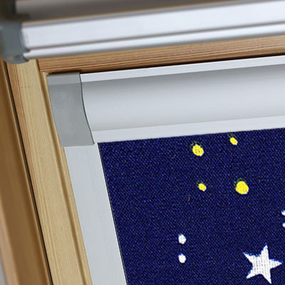 Blackout Blinds For Rooflite Roof Skylight Windows Night Sky Blue Frame Two