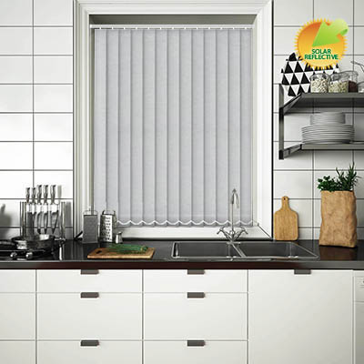 Made to Measure Solar Reflective Replacement Vertical Blind Slats Nordic Solar Silver Main
