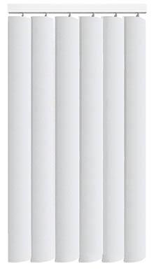 Nova Brilliant White Rigid PVC Vertical Blind Main Image