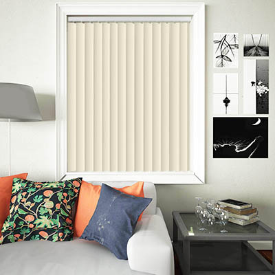 Made to Measure Rigid PVC Waterproof Replacement Vertical Blind Slats Nova Cream Lifestyle