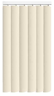 Made to Measure Rigid PVC Waterproof Replacement Vertical Blind Slats Nova Cream 3Slats Zoom