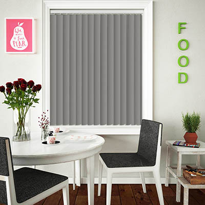 Made to Measure Rigid PVC Waterproof Replacement Vertical Blind Slats Nova Grey Lifestyle