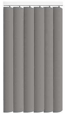 Made to Measure Rigid PVC Waterproof Replacement Vertical Blind Slats Nova Grey 3Slats Zoom