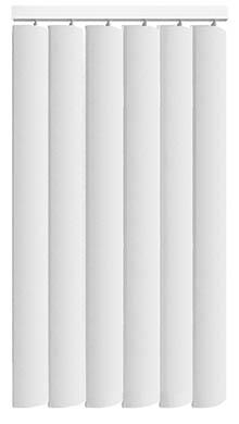 Made to Measure Rigid PVC Waterproof Replacement Vertical Blind Slats Nova Off White 3Slats Zoom