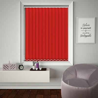 Replacement Vertical Blind Slats Origin Bright Red Main