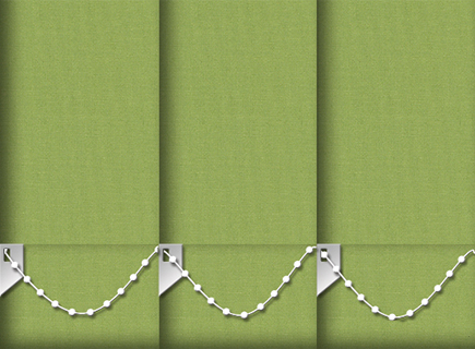 Made to Measure Vertical Blinds Origin Kermit Green 3 Slats