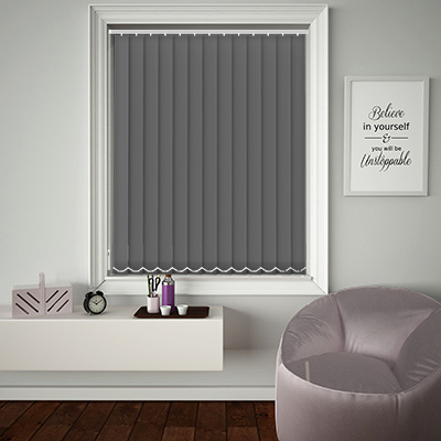 Replacement Vertical Blind Slats Origin Rock Grey Main