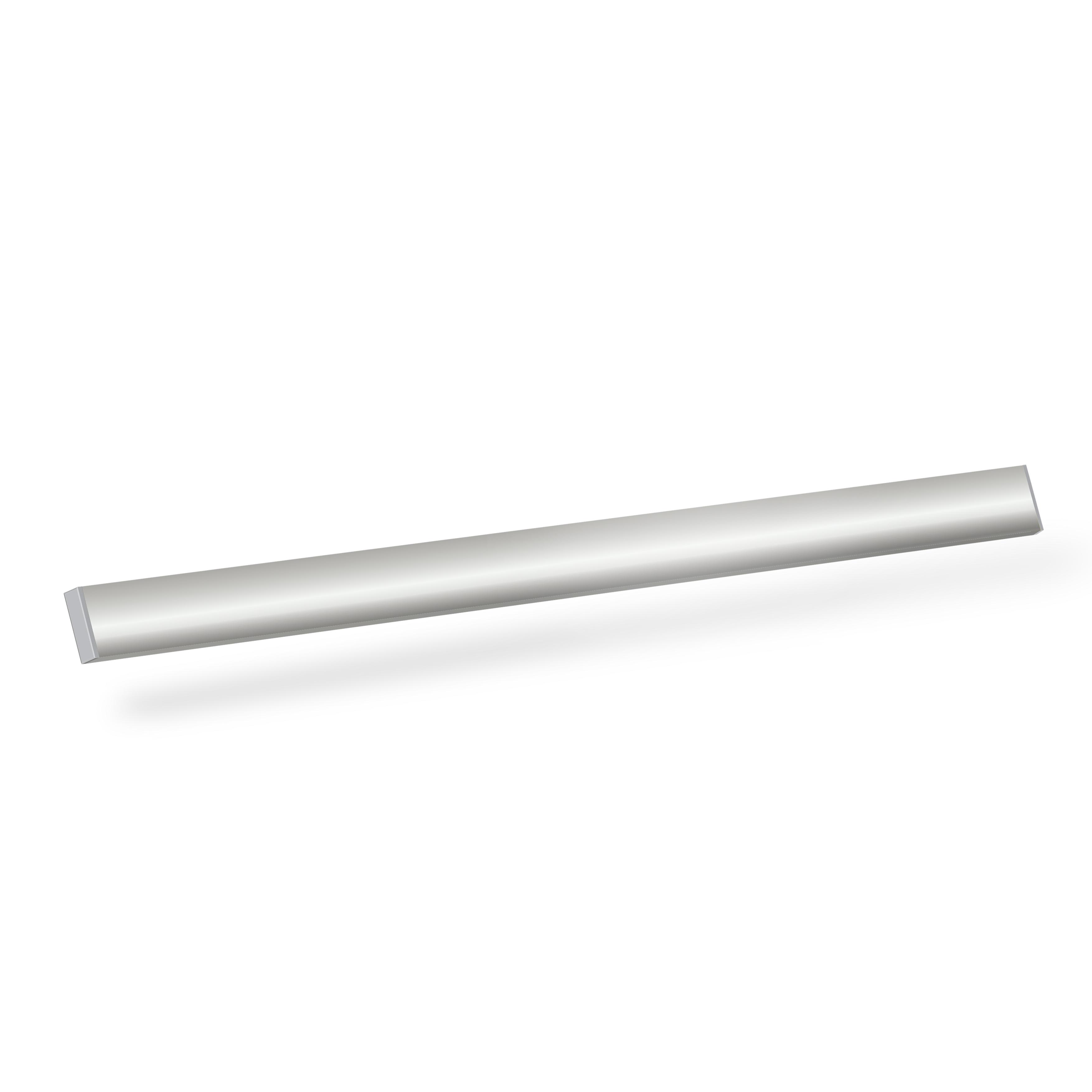 Origin White Roller Blinds With Chrome Bottom Bar 3D  Closeup