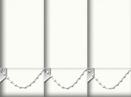 Made to Measure Vertical Blinds Origin White 3 Slats