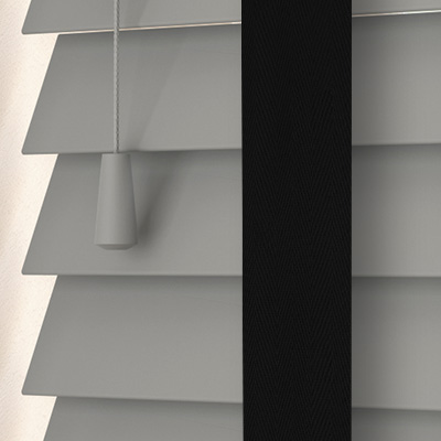 Pavillion with Smoke Tape Wooden Venetian Blind Close Up