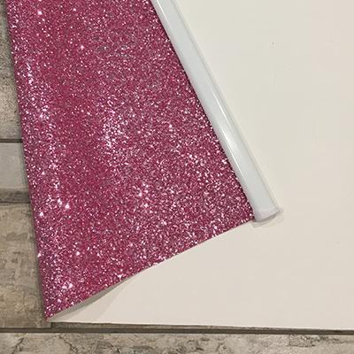 Pink Glitter Roller Blind Close Up Back