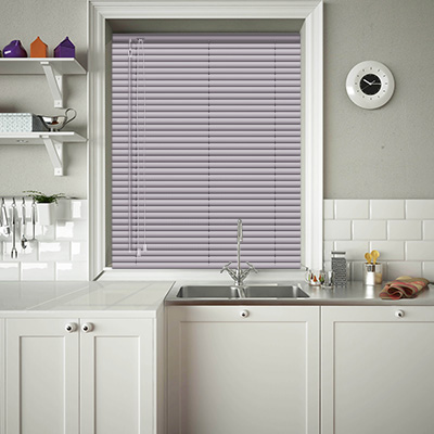 Venetian Blinds Pink Silver Texture Closed