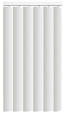 Made to Measure Rigid PVC Waterproof Replacement Vertical Blind Slats Pogo Brilliant White 3Slats Zoom