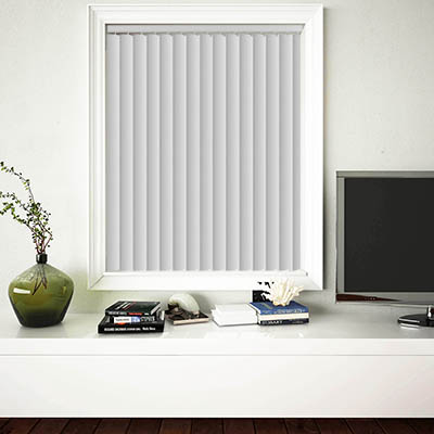 Made to Measure Rigid PVC Waterproof Replacement Vertical Blind Slats Pogo Chalk White Lifestyle