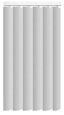 Made to Measure Rigid PVC Waterproof Replacement Vertical Blind Slats Pogo Chalk White 3Slats Zoom
