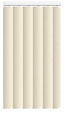 Pogo Cream Rigid PVC Vertical Blind Main Image