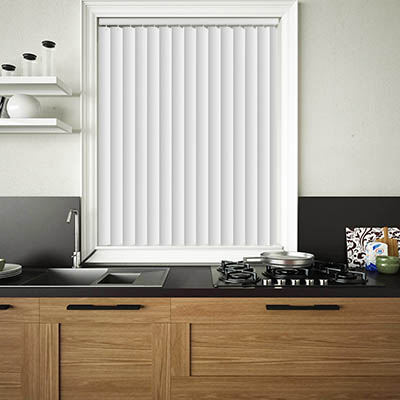 Made to Measure Rigid PVC Waterproof Replacement Vertical Blind Slats Pogo Off White Lifestyle