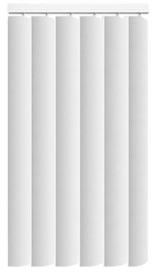 Made to Measure Rigid PVC Waterproof Replacement Vertical Blind Slats Pogo Off White 3Slats Zoom