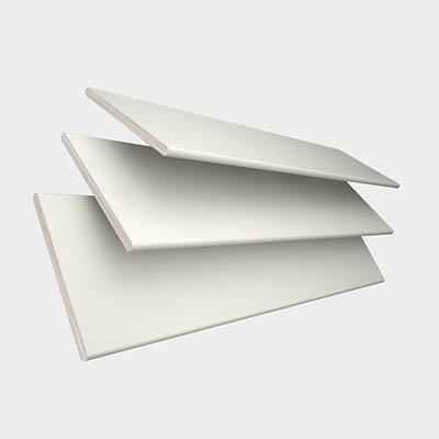 Polar with Chalk Tape Wooden Venetian Blind 3 Slats