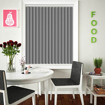 Made to Measure Rigid PVC Waterproof Replacement Vertical Blind Slats Pula Grey Lifestyle