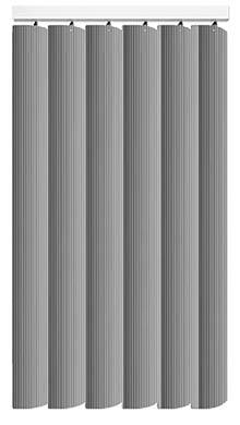 Made to Measure Rigid PVC Waterproof Replacement Vertical Blind Slats Pula Grey 3Slats Zoom