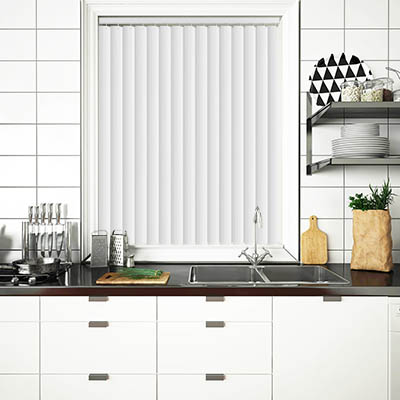 Made to Measure Rigid PVC Waterproof Replacement Vertical Blind Slats Pula Off White Lifestyle