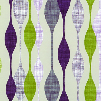 Made to Measure  Spring Loaded Cordless Roller Blinds Retro Vibe Purple