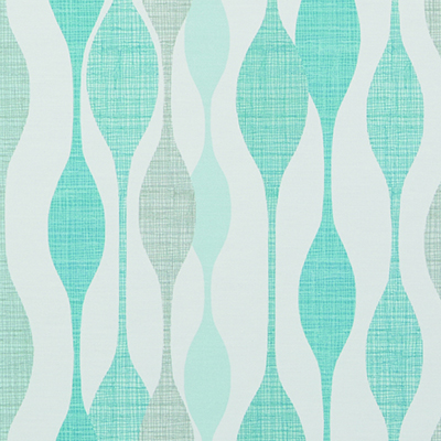 Made to Measure  Spring Loaded Cordless Roller Blinds Retro Vibe Teal