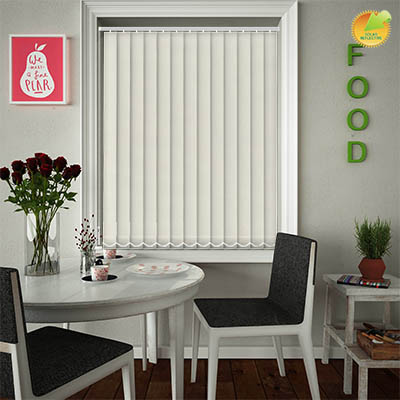 Made to Measure Solar Reflective Replacement Vertical Blind Slats Ribbon Solar Cream Main