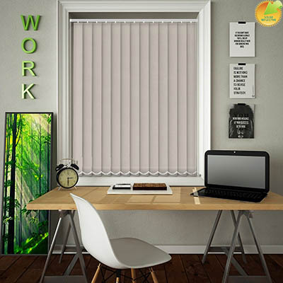 Made to Measure Solar Reflective Replacement Vertical Blind Slats Ribbon Solar Fawn Main