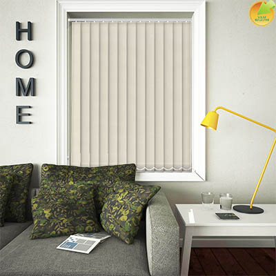 Made to Measure Solar Reflective Replacement Vertical Blind Slats Ribbon Solar Magnolia Main