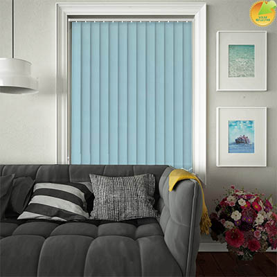 Made to Measure Solar Reflective Replacement Vertical Blind Slats Ribbon Solar Teal Main